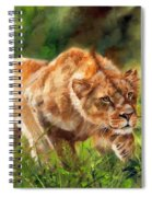 Lioness Stalking Spiral Notebook