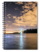 Lion's Gate Bridge Vancouver At Night Spiral Notebook