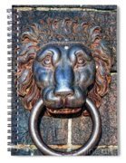 Lions Head Knocker Spiral Notebook