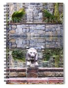 Lions In The Renaissance Court Fountain 2 Spiral Notebook