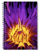 Liqufied Water Lily Spiral Notebook