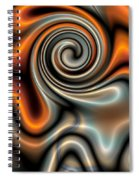 Liquid Mercury And Rust 2 Spiral Notebook