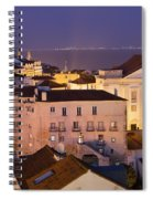 Lisbon At Night In Portugal Spiral Notebook