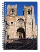 Lisbon Cathedral In Portugal Spiral Notebook