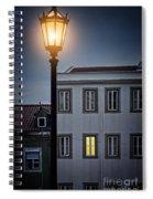 Lisbon Street Lamp Spiral Notebook