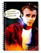 Listen To James Spiral Notebook