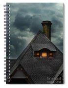 Lit Attic Window Spiral Notebook