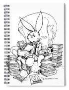 Literary Playboy Spiral Notebook