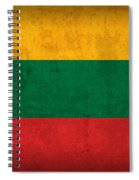Lithuania Flag Vintage Distressed Finish Spiral Notebook