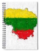 Lithuania Painted Flag Map Spiral Notebook