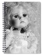 Little Angel In Black And White Spiral Notebook