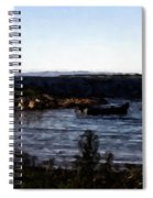 Little Black Boat Abstraction Spiral Notebook