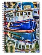 Little Blue Boat Hdr Spiral Notebook
