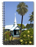 Little Blue Church Kona Spiral Notebook