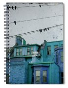 Little Blue Houses Spiral Notebook