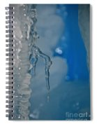Little Blue Icicle Spiral Notebook