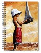 Little Boy In The Beach Spiral Notebook