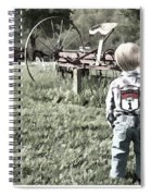 Little Boy On Farm Spiral Notebook