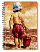 Little Boy On The Beach II Spiral Notebook