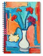 Little Carnations China Pink Flowers Spiral Notebook
