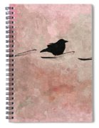 Little Crow In The Pink Spiral Notebook