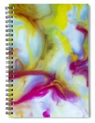 Little Dragon Watercolor Abstract Painting Spiral Notebook