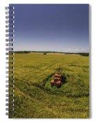 Little Firetruck In A Big Field Spiral Notebook