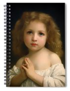 Little Girl And Her Prayer Spiral Notebook