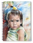 Little Girl From Tahiti Spiral Notebook