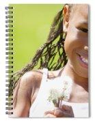 Little Girl Holding Weeds Spiral Notebook