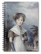 Little Girl In A Quaker Costume Spiral Notebook