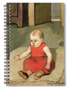 Little Hector On The Floor, 1889 Spiral Notebook