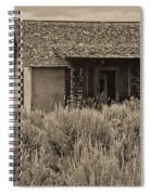 Little House In The Sage Bw Spiral Notebook