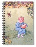 Little Miss Muffet Spiral Notebook