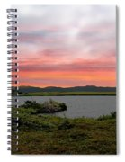 Little Pond Near The Ocean Panorama Spiral Notebook