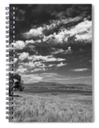 Little Prarie Big Sky - Black And White Spiral Notebook