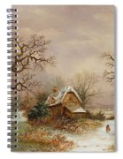 Little Red Riding Hood In The Snow Spiral Notebook