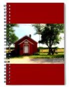 Little Red School House Spiral Notebook