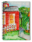 Little Red Schoolhouse Spiral Notebook