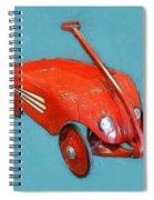Little Red Wagon Spiral Notebook