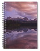 Little Redfish Lake Sunset Stanley Idaho Spiral Notebook