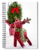 Little Reindeer Christmas Card Spiral Notebook