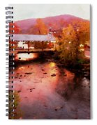 Little River Bridge At Sunset Gatlinburg Spiral Notebook
