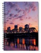 Little Rock Bridge Sunset Spiral Notebook