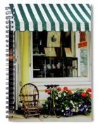 Little Rocking Chair By Antique Store Spiral Notebook