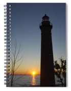 Little Sable Lighthouse At Sunset Spiral Notebook