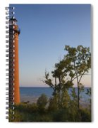 Little Sable Lighthouse By The Shore Spiral Notebook