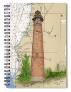 Little Sable Lighthouse Lake Mi Nautical Chart Map Art Cathy Peek Spiral Notebook