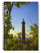 Little Sable Lighthouse Seen Through The Trees Spiral Notebook