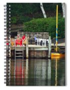 Little Sister Dock Reflection Spiral Notebook